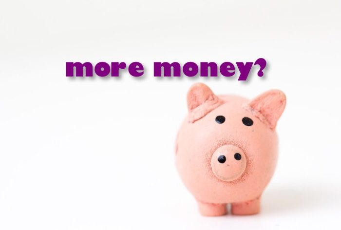 piggy bank more money?