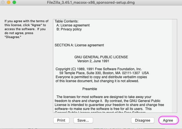FileZilla ライセンス